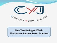 New Year 2020 | New Year Packages 2020 in The Sirmour Retreat Resort in Nahan