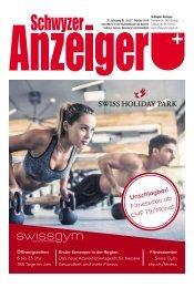 Schwyzer Anzeiger – Woche 43 – 25. Oktober 2019