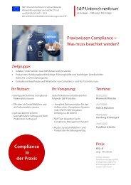 Seminar Compliance Management & Interne Revision