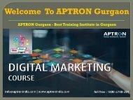 Digital Marketing Training Course in Gurgaon - APTRON Gurgaon
