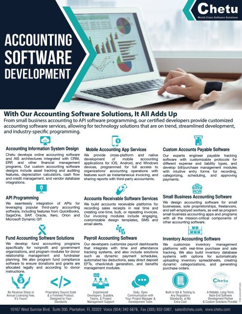 Accounting Software Development Services And Solutions Chetu