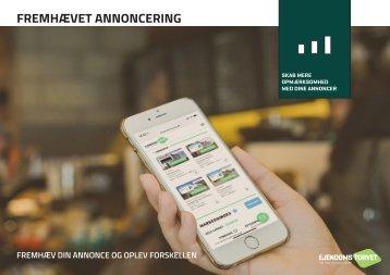 Fremhævede annoncer på Ejendomstorvet.dk