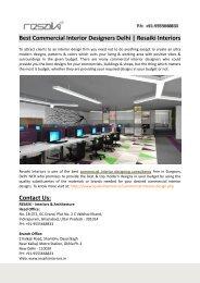 Best Commercial Interior Designers Delhi-Resaiki Interiors