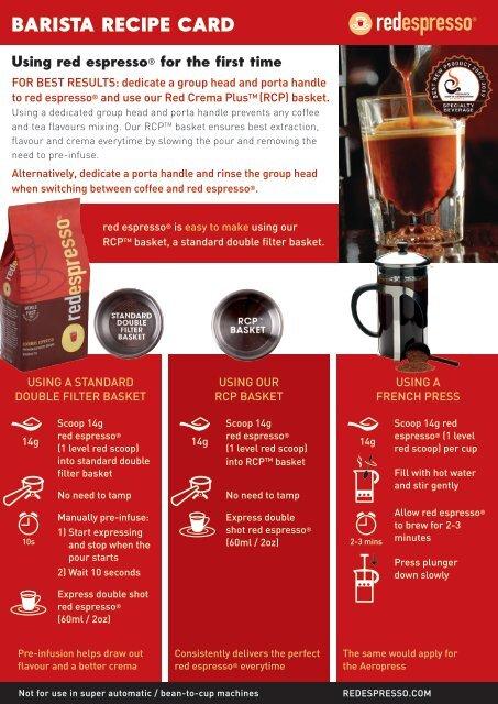 red espresso® barista rooibos recipe card