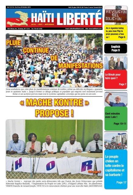 Haiti Liberte 23 Octobre 2019