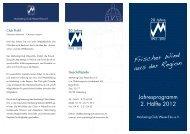 Jahresprogramm 2. Hälfte 2012 - Marketing-Club Weser-Ems eV