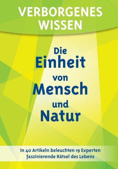 Die Einheit von Mensch und Natur - Verborgenes Wissen (Leseprobe)