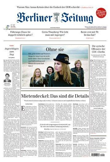Berliner Zeitung 23.10.2019