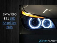 BMW e60 halo bulb by XenonPlanet