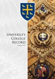 University College Oxford Record 2019
