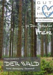 GUT ZUM HERZ | Das Magazin Ausgabe Oktober 2019 »Der Wald«
