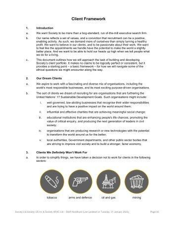 Our Client Framework
