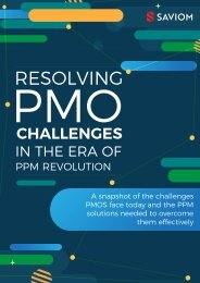 Resolving PMO challenges in the era of PPM revolution