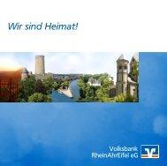 Volksbank RheinAhrEifel Privatkundenbroschüre