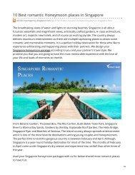 10 Best romantic Honeymoon places in Singapore