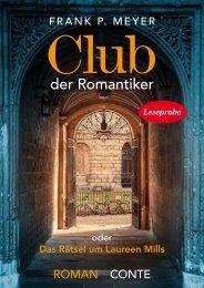 Leseprobe Conte Verlag: Club der Romantiker - Frank P. Meyer