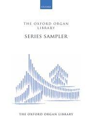 The Oxford Organ Library Sampler