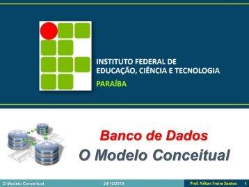 BD1 - O Modelo Conceitual
