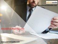 Insurance Mailing List   Insurance Lead Lists