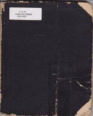 DAR Isaac Hull 1915-1921 Minutes