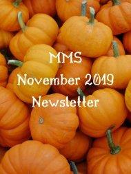MMS November 2019 Newsletter