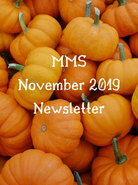 MMS November 2019 Newsletter