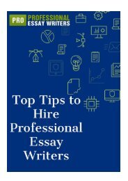 Top Tips to Hire Professional Essay Writers