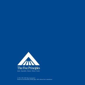 Download our Five Principles PDF - Mars
