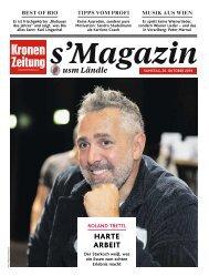 s'Magazin usm Ländle, 26. Oktober 2019