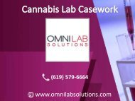 Cannabis Lab Casework at a reasonable price | OMNI Lab Solutions