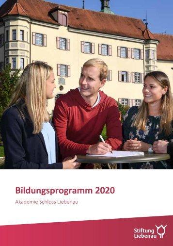 Bildungsprogramm 2020 - Akademie Schloss Liebenau