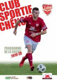 CS Chênois - Programme saison 2019-20