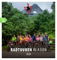 China By Bike, Tourenprogramm 2020