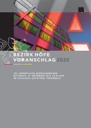 Voranschlag 2020 Bezirk Hofe web