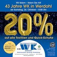 43. Geburtstag  WK Warenhaus