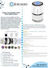 Geniani Home Air Purifier with True HEPA Filter