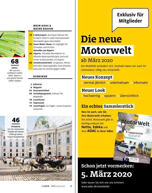 ADAC Motorwelt November 2019