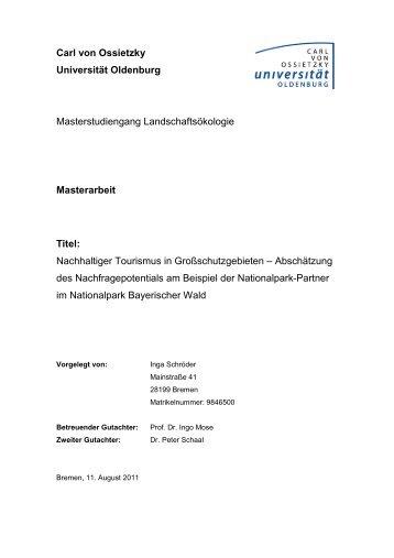 Inga Schröder: Nachhaltiger Tourismus in Großschutzgebieten