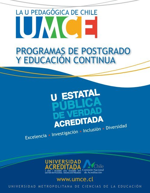 Revista Admisión Postgrado UMCE