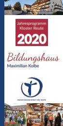 Jahresprogramm Kloster Reute