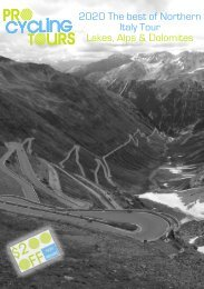 2020 Northern Italy Cycling Tour - Lakes, Alps and Dolomites