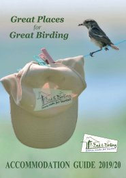 Bed and Birding Accommodation Guide 2020
