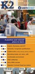 LearnDirect - Leaflet brochure
