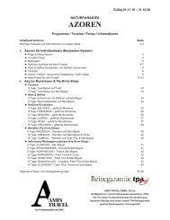 Azoren-Preisliste 01.11.19-31.10.20