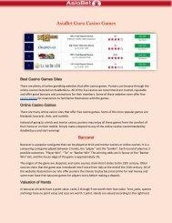 Online Casino Sites - AsiaBet Guru