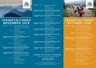 Veranstaltungen Okt./Nov. 2019