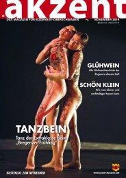 akzent Magazin Oktober '19 Bodensee-Oberschwaben