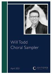 Will Todd sampler