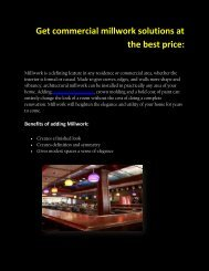 Get commercial millwork solutions at the best price: