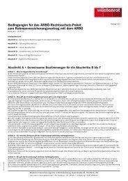 Bedingungen für das ARBÖ-Rechtsschutz-Paket zum ...